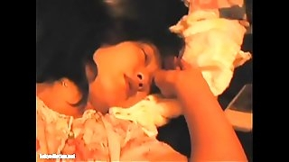 Japanese wifey sleeping handballing ginormous snatch