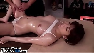 Japanese nubile massage turned in hot sex