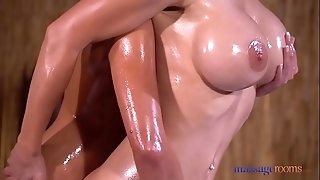 Massage Rooms Sexy brunette Amirah Adara and giant tits blonde Nathaly Cherie