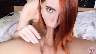 Deep blowjob and throbbing sperm for Redhead - MOLLYREDWOLF