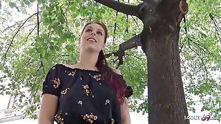 GERMAN SCOUT - Timid REDHEAD NATURAL COLLEGE TEEN Entice TO FUCK AT PICKUP CASTING
