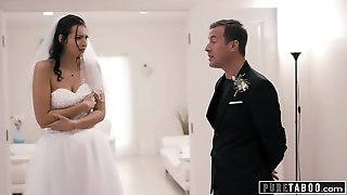 PURE TABOO Bride Confronted By Brother Of Groom Who Seeks Anal invasion Payback