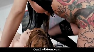 Naughty Teacher Nun Fucks Her Students and Squirts on Them