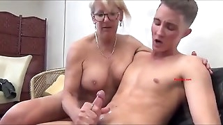 Horny Professor fucking young cock