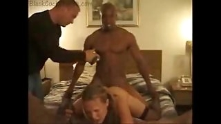 amateur whorish wife threesome penetrates with bbc