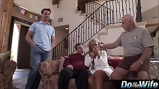Blonde wife luvs penetrating a porno stud