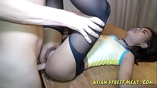 Chinese Woman Cascades Semen After Anal Intercourse