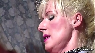 German Huge Tit Cougar Seduce to Fuck when Hubby away