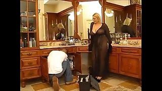 Horny BBW blondie gets nailed by a young guy