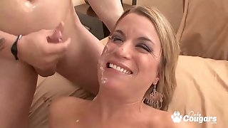 Crazy Jessie Fontana Lets Her Nephew Shoot His Load On Her Chin