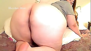 BBW gives jerk off instruction dirty talk and backside worship with her big backside