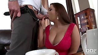 Huge-chested BBW Sirale gets Stuffed Hard & Titty Fucked