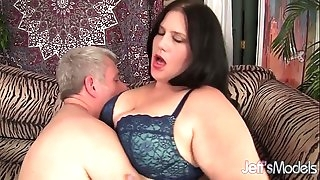 Beautiful BBW Becky Butterfly loves riding fat dicks.